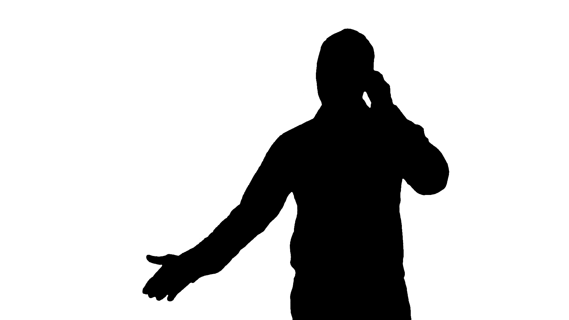 1920x1080 Businessman Talking On A Phone Silhouette Stock Video Footage