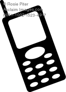 216x300 Illustration Of A Silhouette Of A Cellular Phone