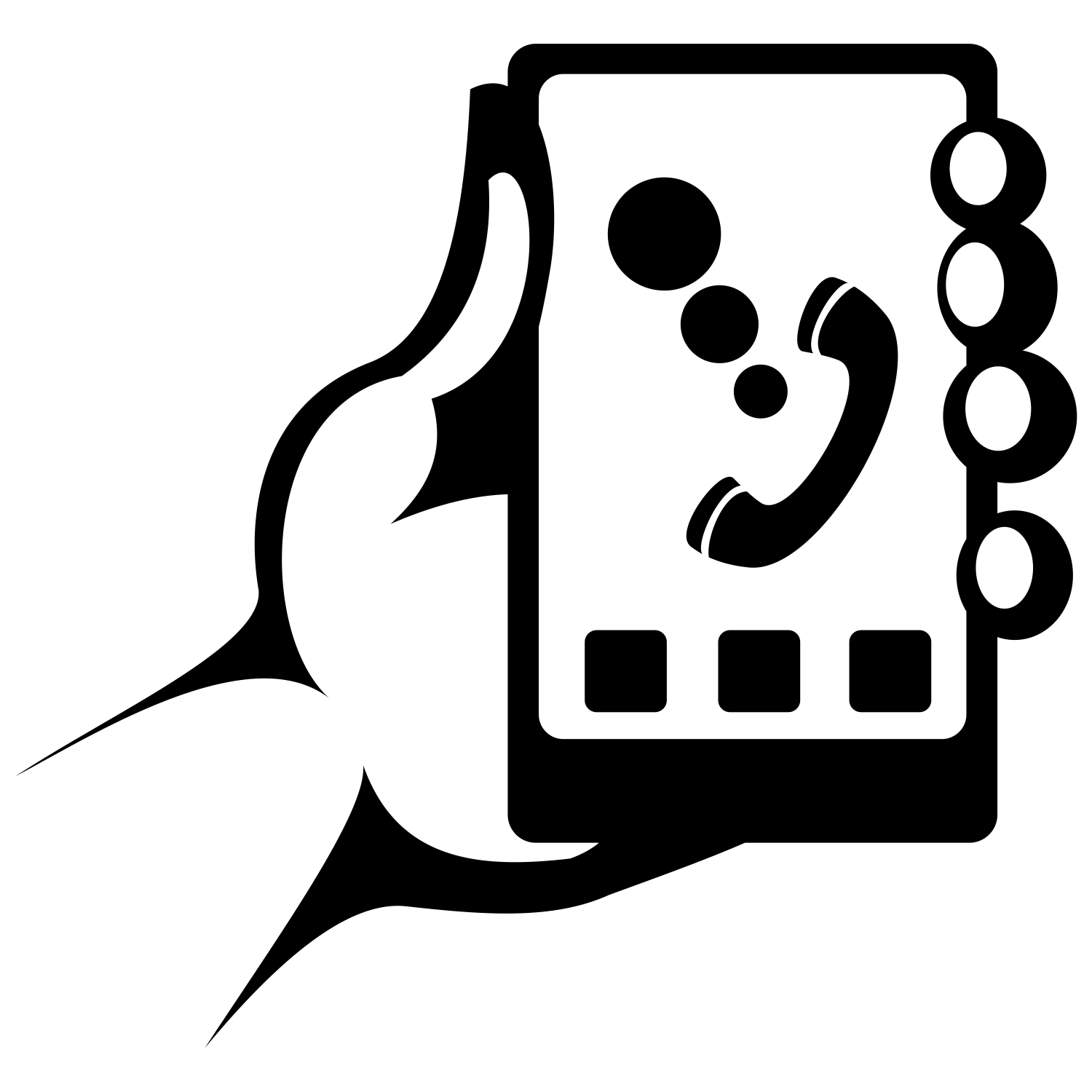 1500x1500 Vector For Free Use Smartphone In Hand