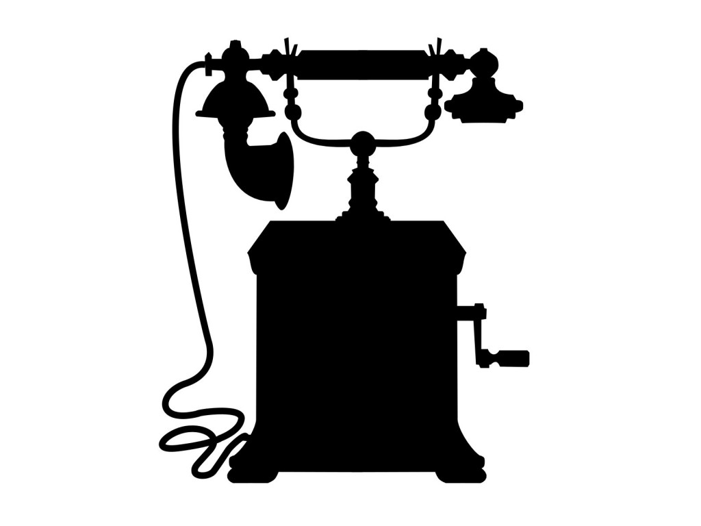 1024x768 Vintage Telephone Vector (Svg, Png)