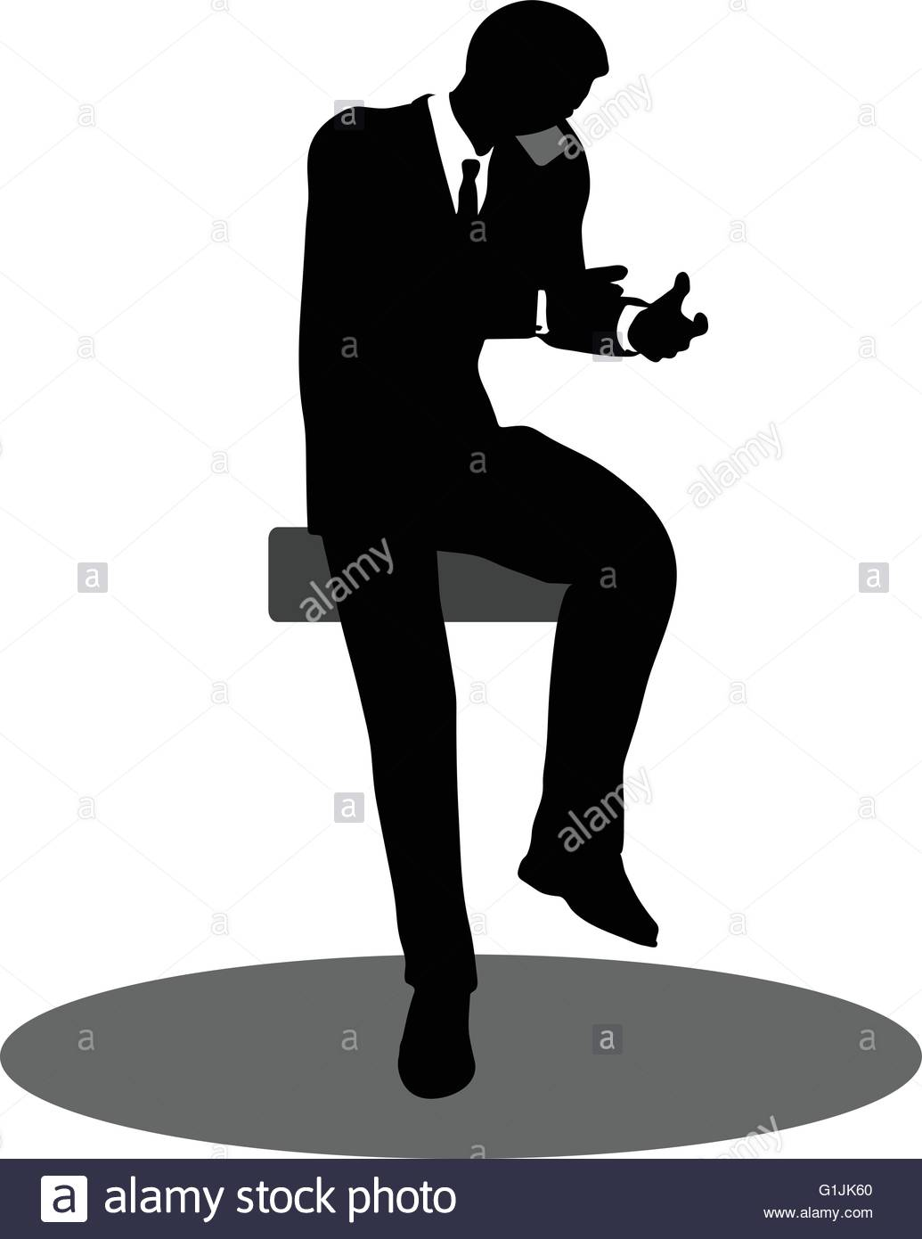 1035x1390 Eps 10 Vector Illustration Of Business People On Phone Sitting