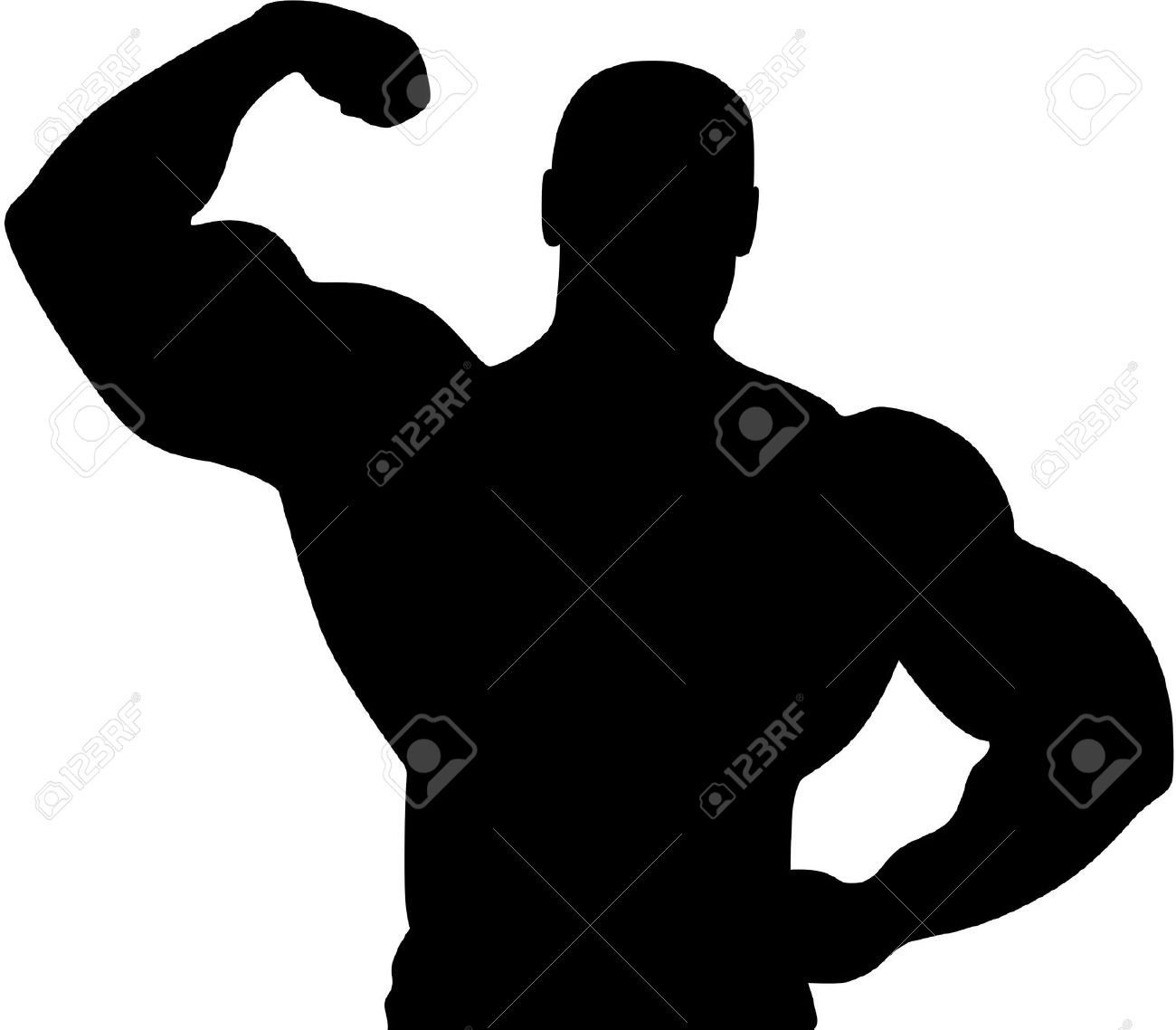 1300x1138 Muscle Silhouette Clipart