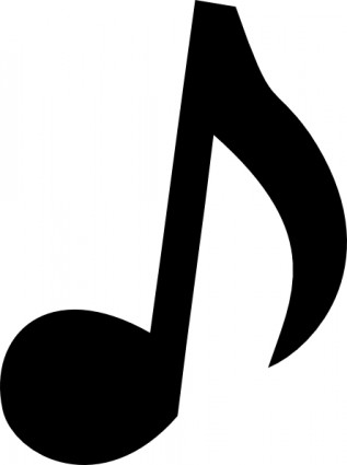 317x425 Music Notes Clipart Silhouette