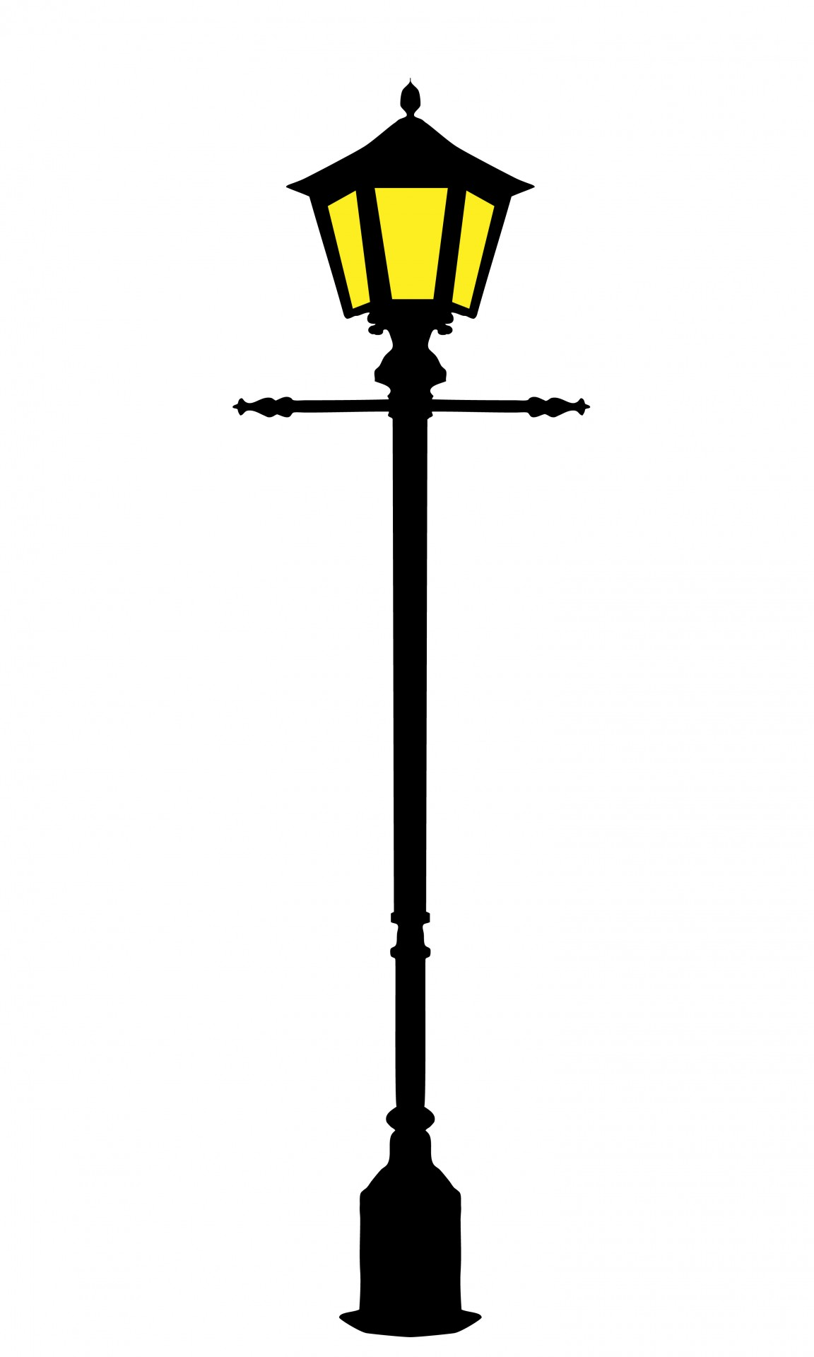 1152x1920 Silhouette Clipart Lamp Post
