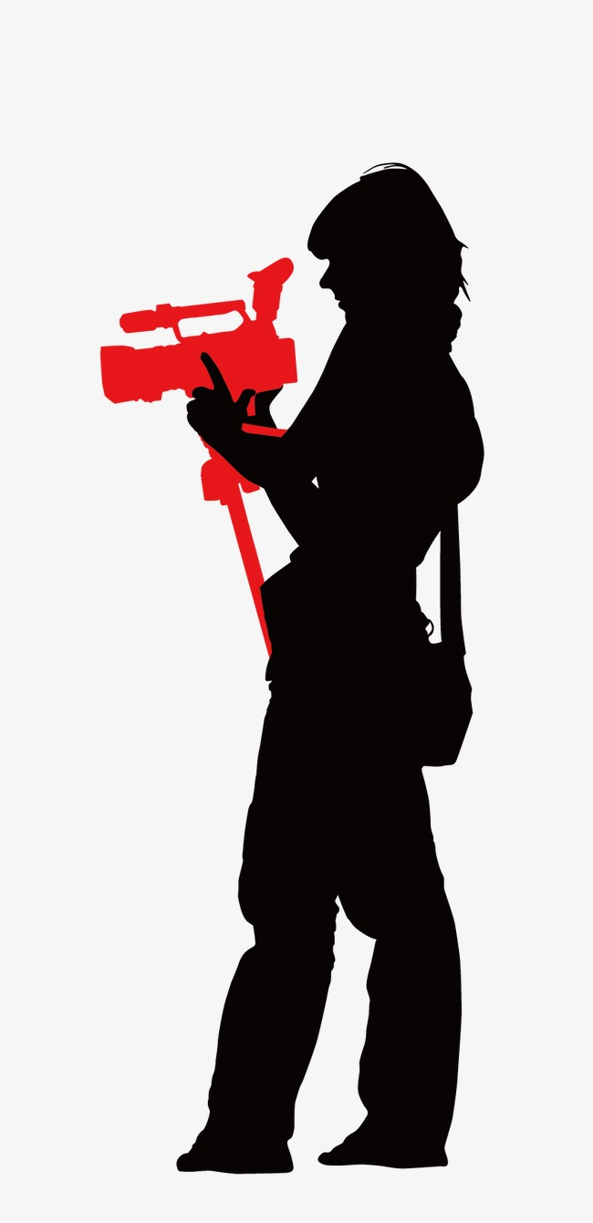 650x1341 Media People Silhouette Vector, Video Camera, Photograph