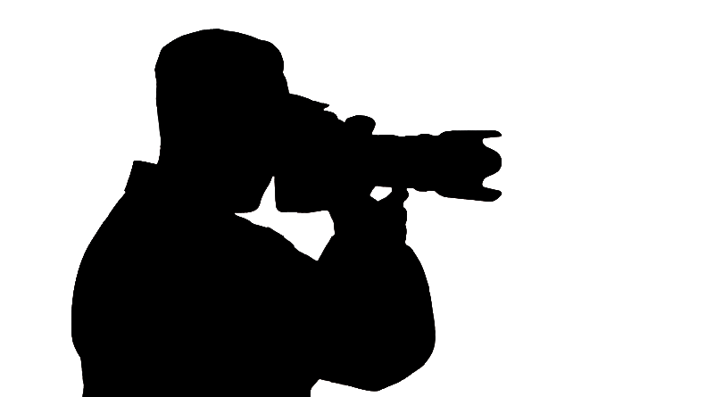 Photographer With Camera Silhouette Png
