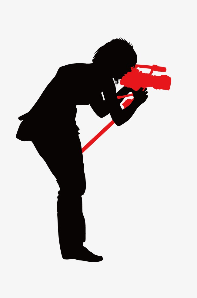 650x985 Media People Silhouette Vector, Video Camera, Photograph