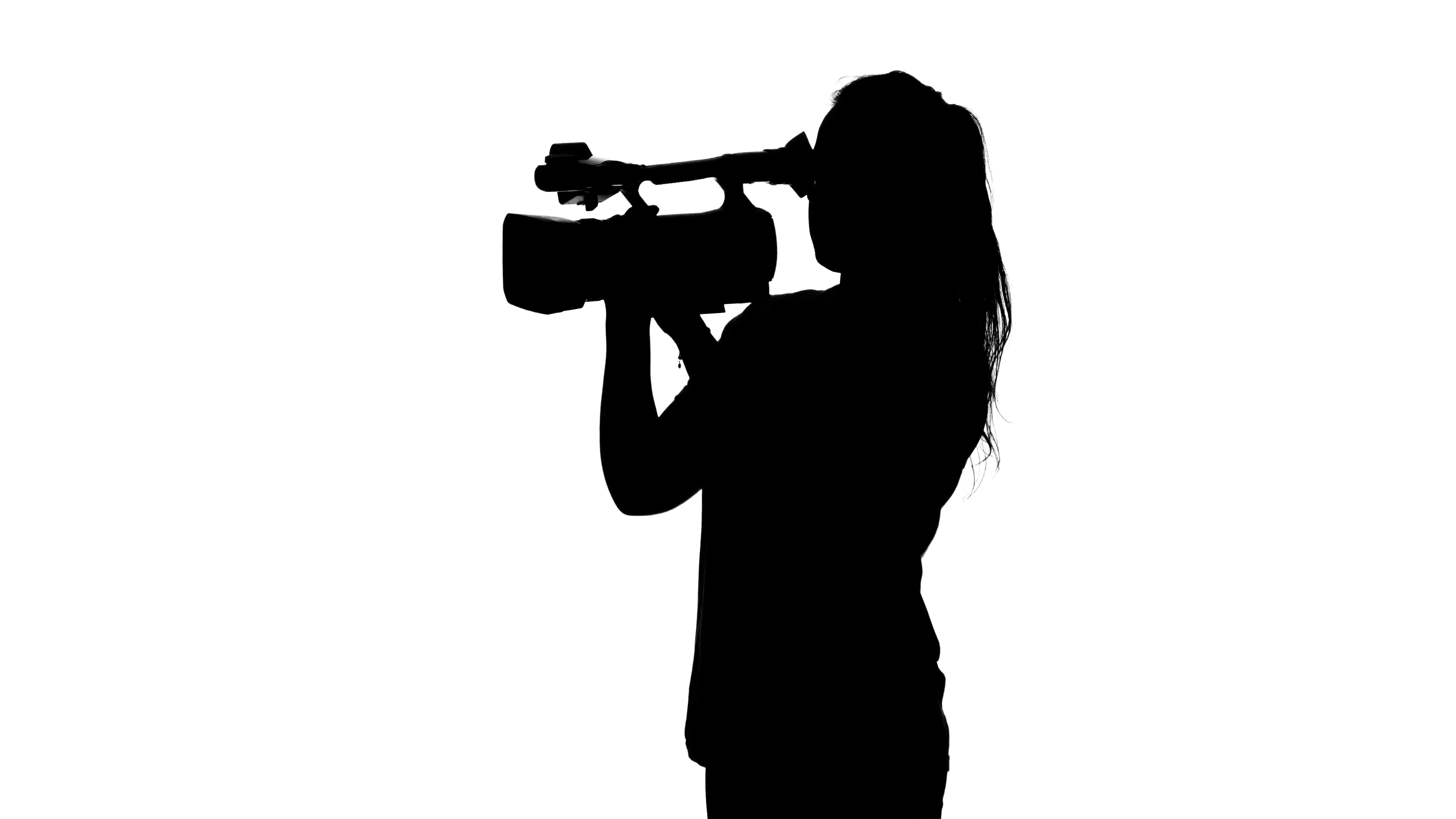3840x2160 Studio Photography On A Professional Camera. White. Silhouette