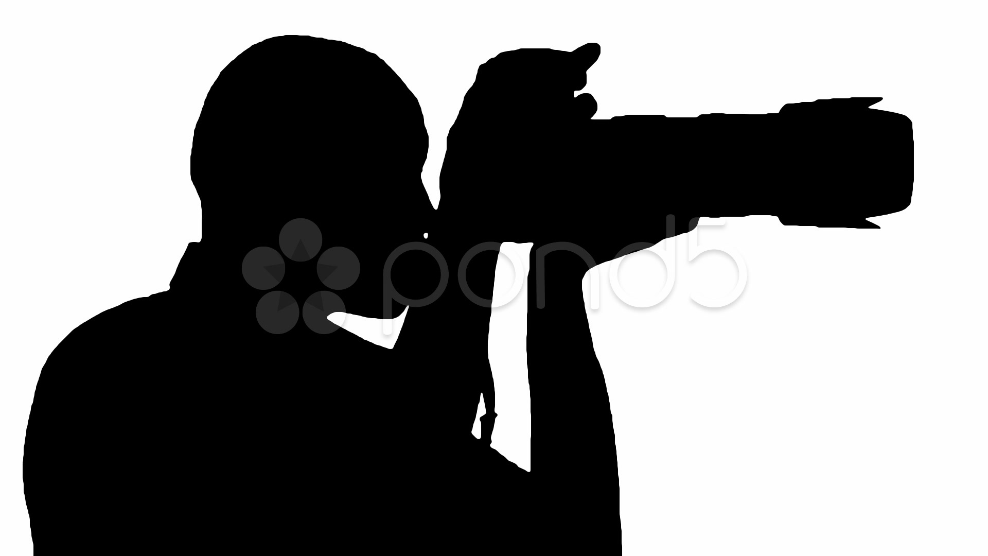 1920x1080 Photographer Silhouette With Audio ~ Stock Video