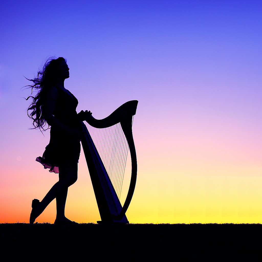 1024x1024 Silhouette Photography Of A Girl