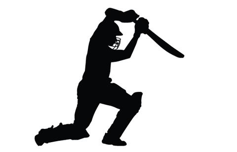 480x309 Cricket Bating Silhouette Vector Silhouettes Vector