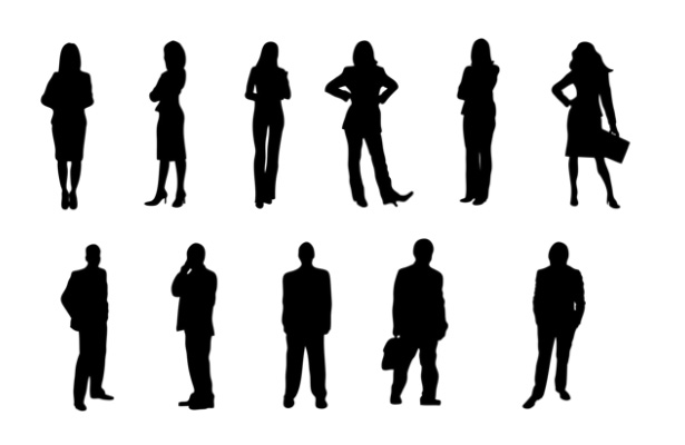 615x400 18 Single Person Silhouette Photoshop Shape Images