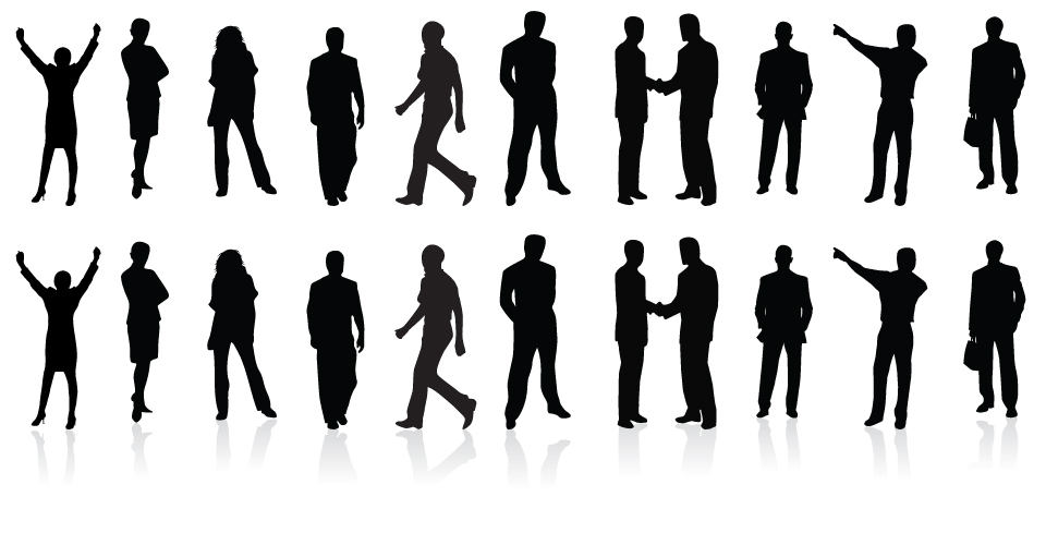 960x500 Business Vector Silhouettes Free Design Resources