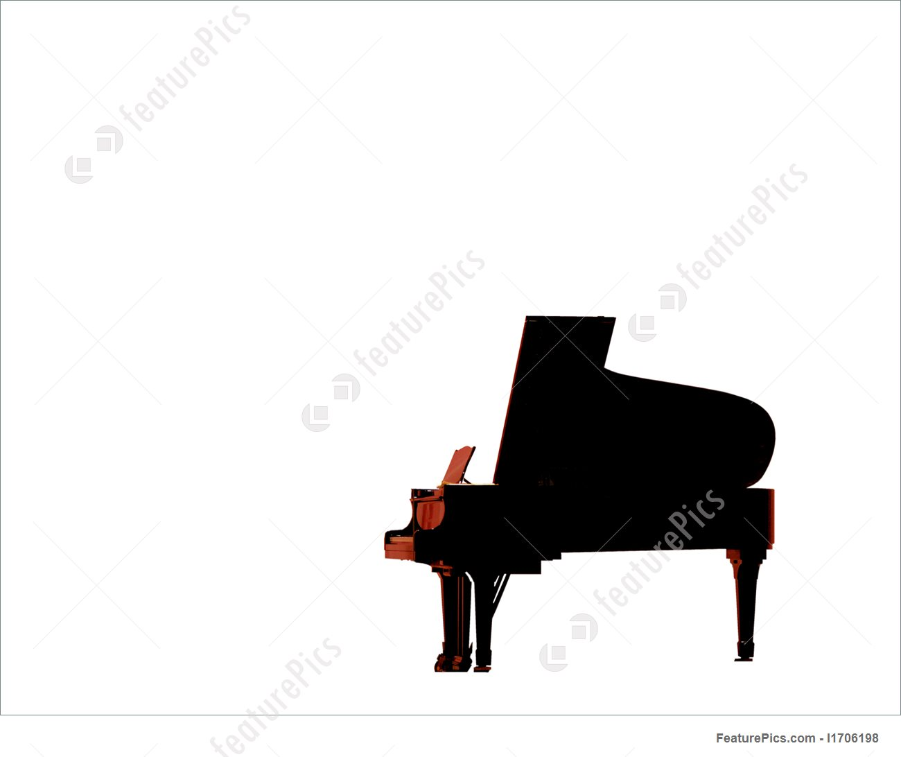 1300x1092 Piano Silhouette Illustration