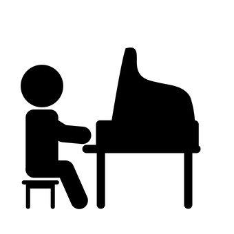 340x340 Free Silhouettes Icon, Grand Piano