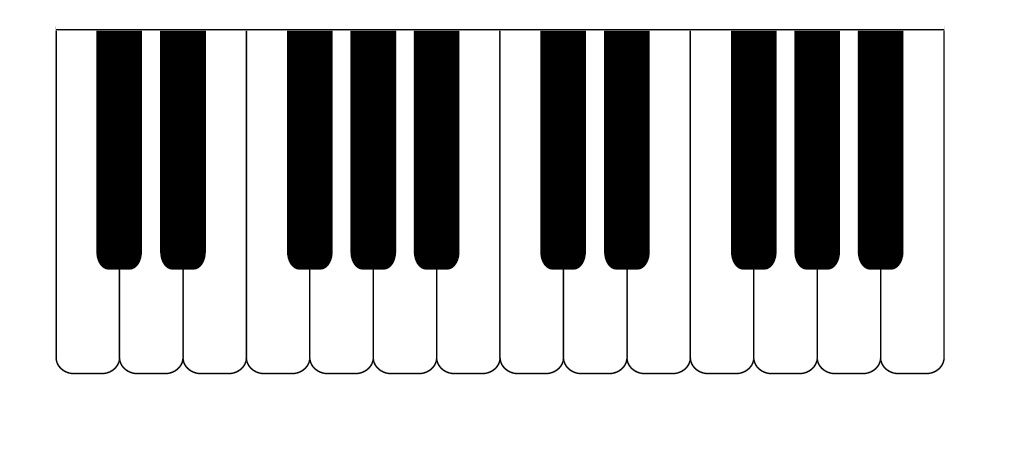 piano keyboard silhouette at getdrawings com free for personal use rh getdrawings com keyboard clip art free keyboard clip art black and white