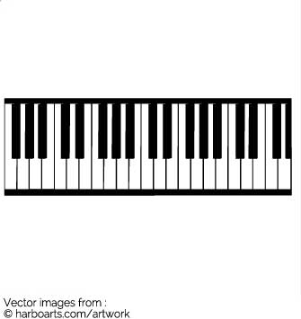 piano keyboard silhouette at getdrawings com free for personal use rh getdrawings com wavy piano keys clipart piano keys clipart
