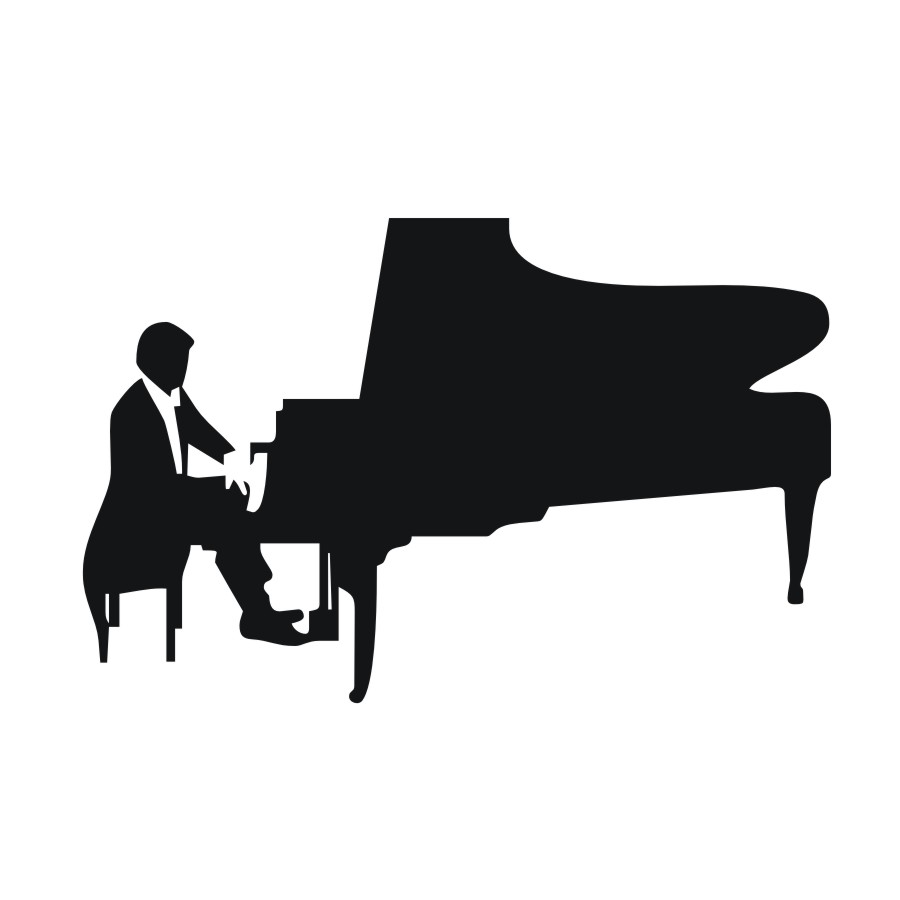 900x900 Diy Removable Art Piano Player Silhouette Wall Stickers Home Room