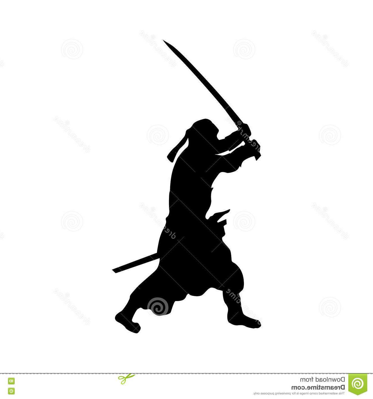 1300x1390 Best Free Samurai Silhouette Black White Background Drawing