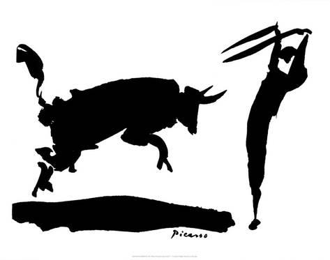 473x373 Bullfight Iii Poster By Pablo Picasso