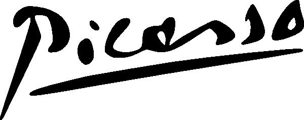600x237 Picasso Signature Clip Art Free Vector 4vector