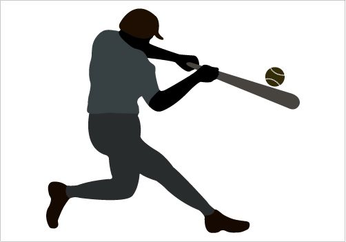 502x351 Baseball Player Silhouette Vector Gtgt Silhouette Graphics
