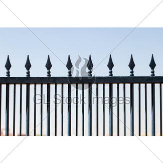 325x325 Forged Iron Fence With Arrows Gl Stock Images