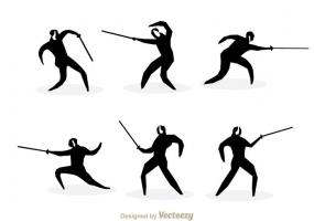285x200 Free Fencing Silhouette Vector Free Vector Graphic Art Free