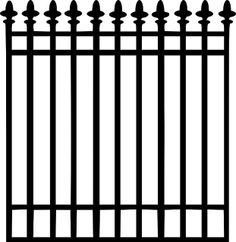 236x242 Nice Picket Fence Cutting Files And Svg's Fences