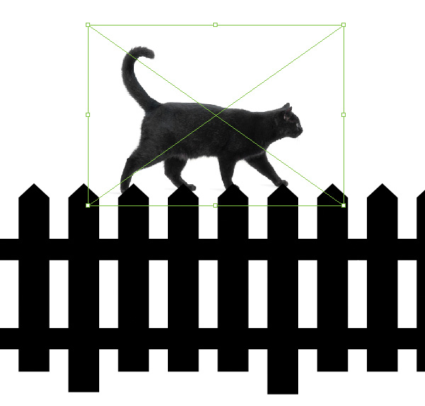 600x573 Play With Blends And Image Trace To Create A Simple Cat Scene
