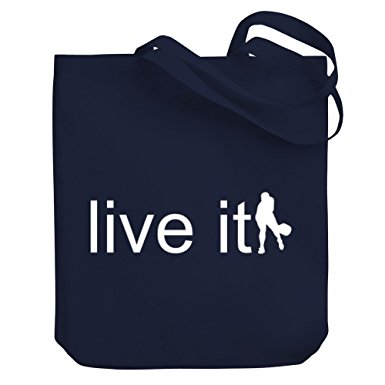 385x385 Teeburon Live It Pickleball Silhouette Canvas Tote