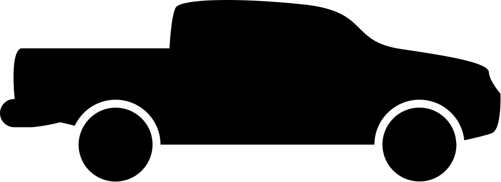 981x357 Pick Up Truck Side View Silhouette Svg Png Icon Free Download