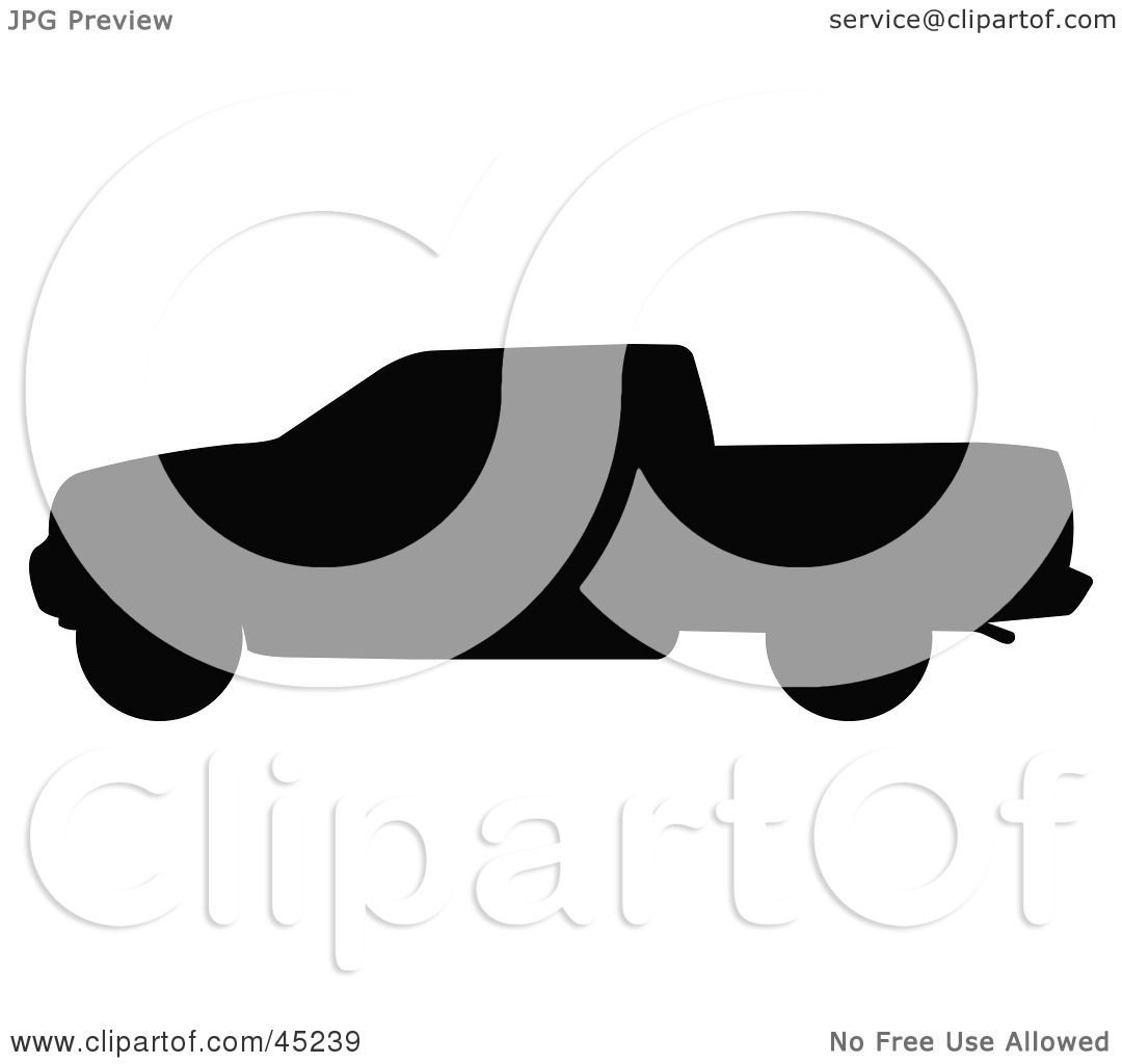 1080x1024 Royalty Free (Rf) Clipart Illustration Of A Profiled Black Pickup
