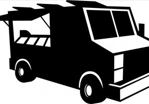 300x210 The Images Collection Of Black Food Truck Silhouette Pickup Free