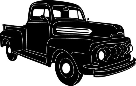 474x301 Classic Truck Silhouette Steel Sign