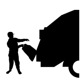 340x340 Free Silhouette Vector Refuse