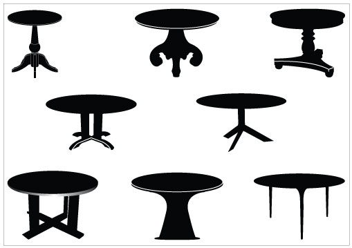 509x359 Table Clipart Silhouette