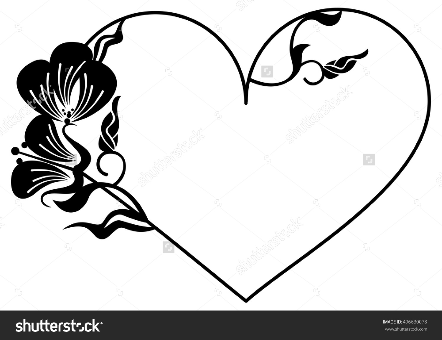 1500x1153 Heart Shaped Leaves Silhouette Clipart Collection