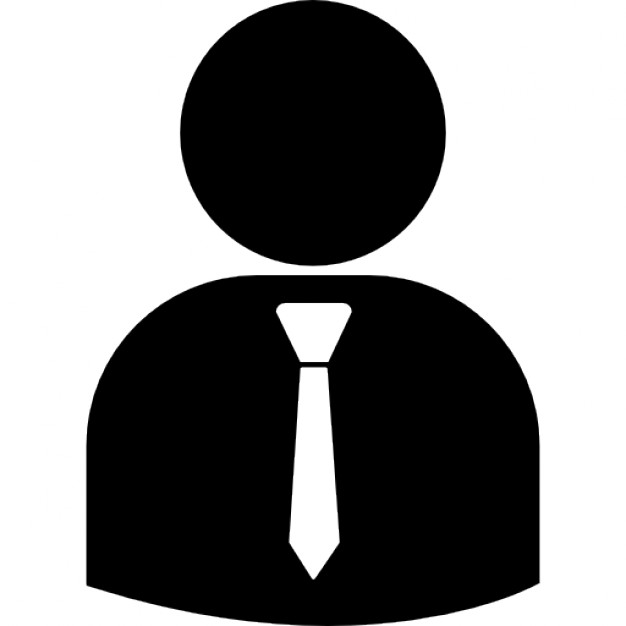 626x626 Business Person Silhouette Wearing Tie Icons Free Download