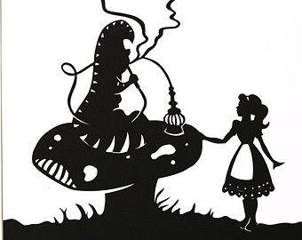 340x270 Alice In Wonderland Silhouette Clip Art Alice In Wonderland