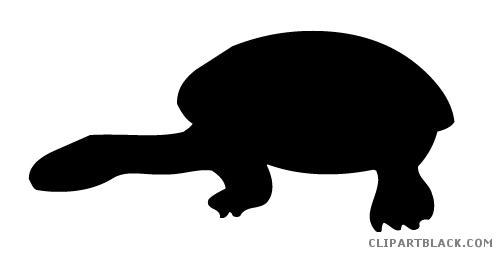 502x256 Turtle Silhouette Clipart