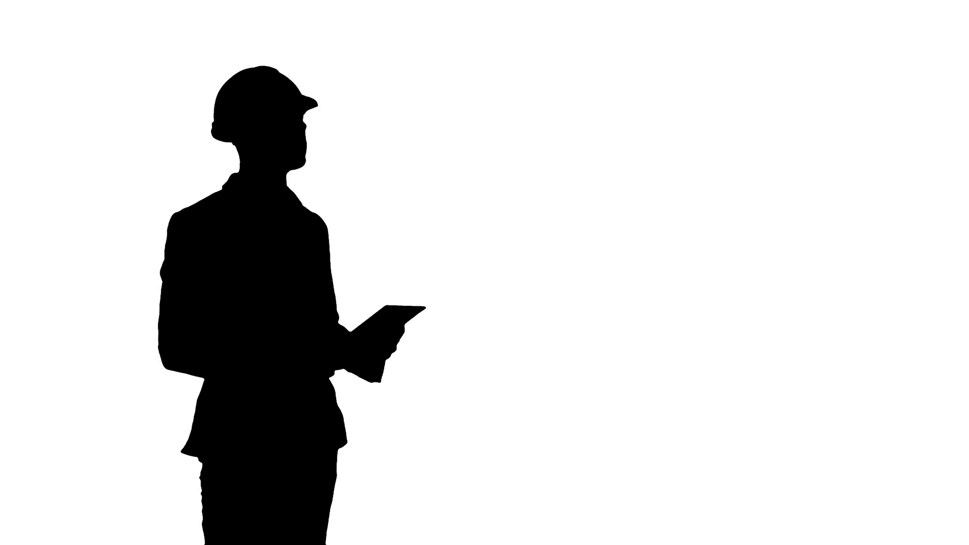 1920x1080 Silhouette Engineer In Safety Helmet Conducting Inspection