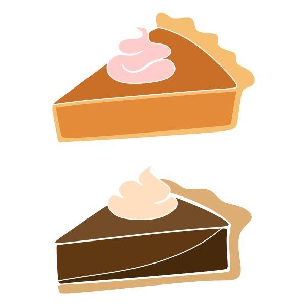 600x600 Pie Cuttable Design Cut File. Vector, Clipart, Digital
