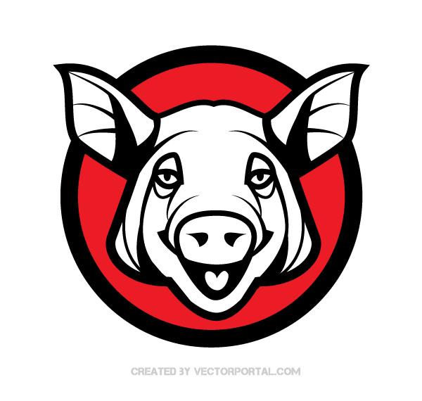 600x570 Pig Head Vector Image Download Free Vector Art Free Vectors