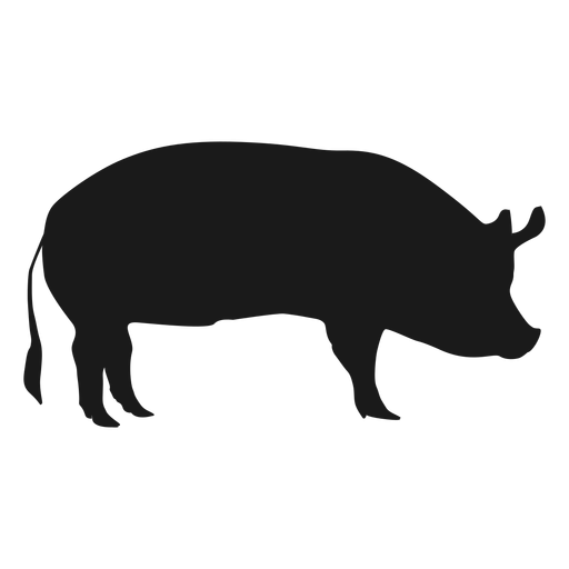 512x512 Pigs Clipart Silhouette Collection