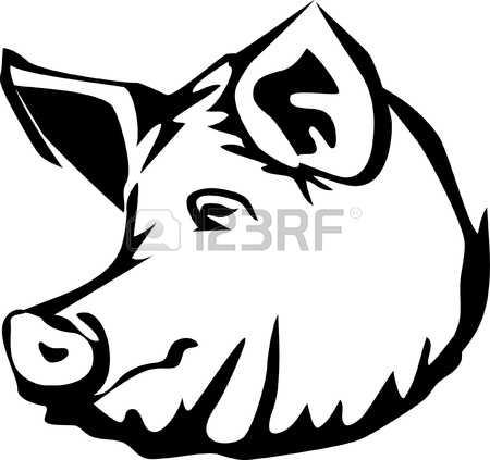 450x423 Pork Clipart Hog Head