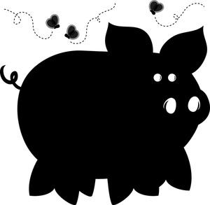 300x293 Cute Pig Face Clip Art Clipart Panda