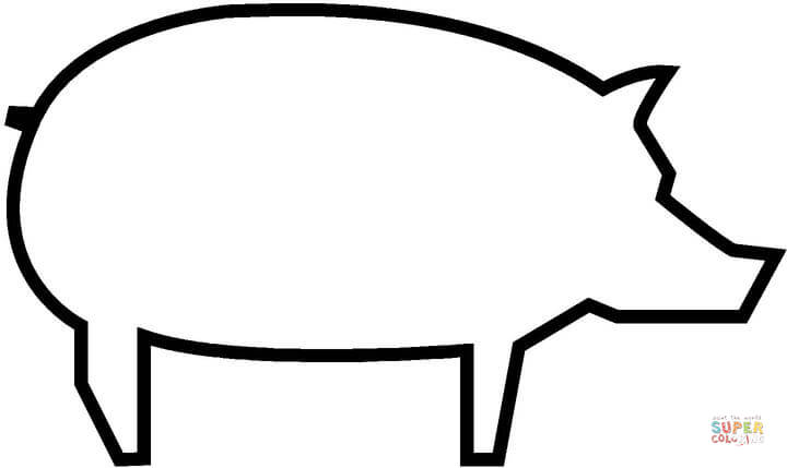 720x429 Pig Outline Drawing