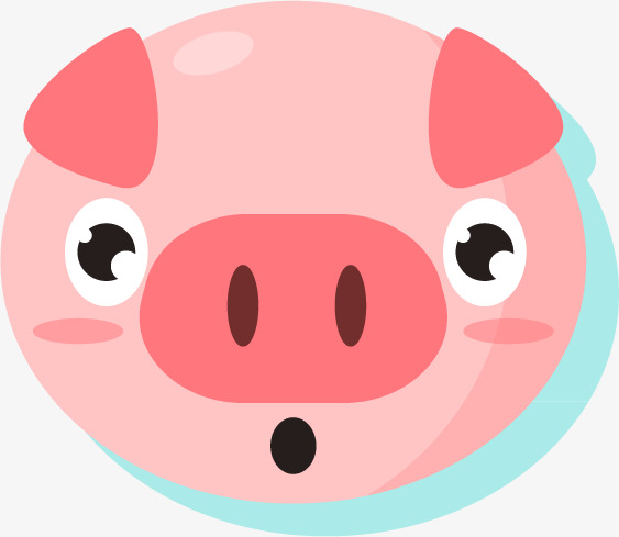 563x489 Shy Pig Silhouette Portrait, Cartoon Animals, Shy Pig, Flat Head