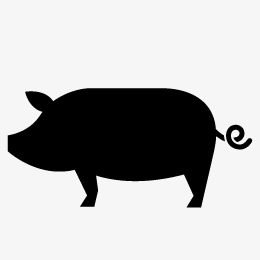 260x260 Pig Silhouette, Pig, Sketch, Animal Png And Vector For Free Download